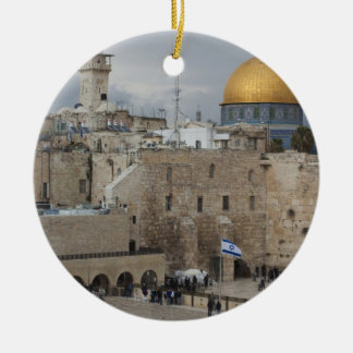 View of Western Wall Plaza, late afternoon Christmas Ornament