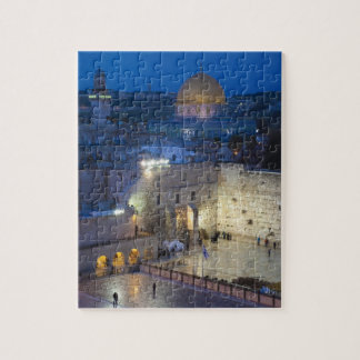 View of Western Wall Plaza, late evening Jigsaw Puzzle