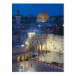 View of Western Wall Plaza, late evening Post Card