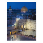 View of Western Wall Plaza, late evening Postcard
