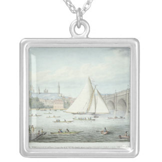 View of Westminster and the Bridge, with a Silver Plated Necklace