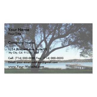 View Of Wharf On The Side Of Beautiful Lake. Business Card
