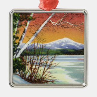 View of Whiteface Mountain from the Lake in Christmas Ornament