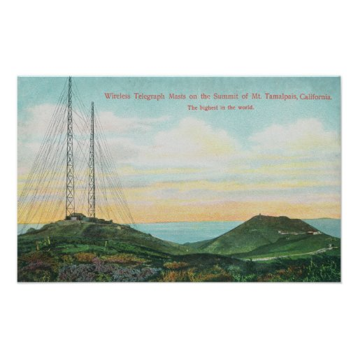 View of Wireless Telegraph Towers Print