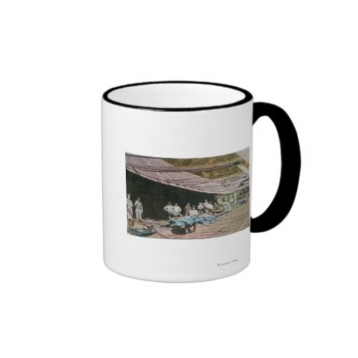 View of Workers at Eureka Slate Quarry Coffee Mugs