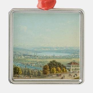 View of Zurich, c.1840 (w/c) Christmas Ornament