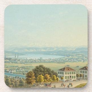 View of Zurich, c.1840 (w/c) Coasters