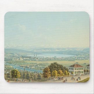 View of Zurich, c.1840 (w/c) Mouse Mat