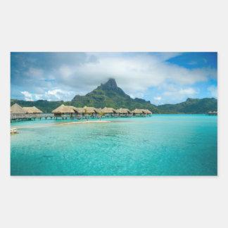 View on Bora Bora island Rectangular Sticker