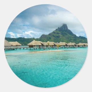 View on Bora Bora island Round Sticker