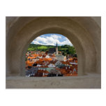 View On Cesky Krumlov Town From The Castle Postcard
