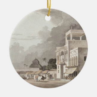 View on the Chitpore Road, Calcutta, plate II from Round Ceramic Decoration