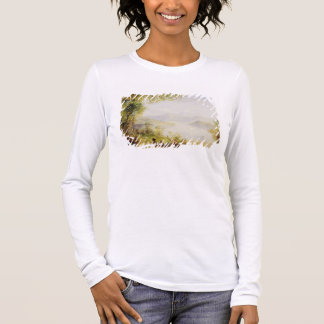 View on the Hudson River, c.1840-45 (oil on panel) Long Sleeve T-Shirt