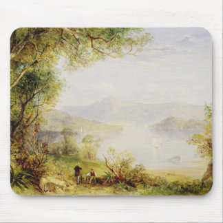 View on the Hudson River, c.1840-45 (oil on panel) Mouse Mat