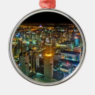 View over Bangkok at night from Baiyoke Tower II Christmas Ornament