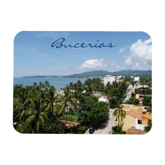 View over Bucerias Riviera Nayarit Rectangular Photo Magnet