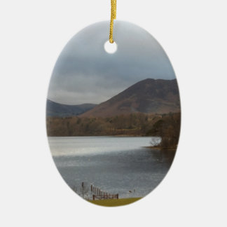 View over Derwentwater Keswick Christmas Ornament