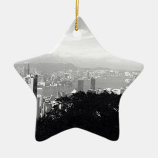 View Over Hong Kong Ceramic Star Decoration