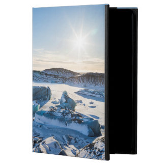 View over the frozen glacial lake cover for iPad air