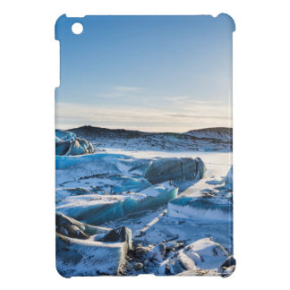 View over the frozen glacial lake cover for the iPad mini