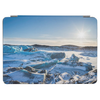 View over the frozen glacial lake iPad air cover