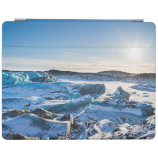 View over the frozen glacial lake iPad cover