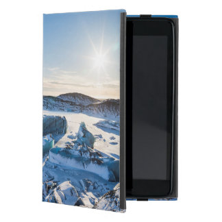 View over the frozen glacial lake iPad mini case