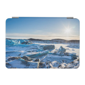 View over the frozen glacial lake iPad mini cover