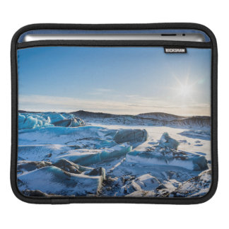 View over the frozen glacial lake iPad sleeve