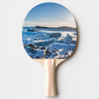 View over the frozen glacial lake ping pong paddle