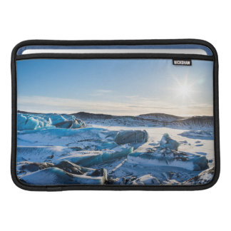 View over the frozen glacial lake sleeve for MacBook air
