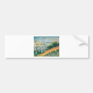 View over Vetheuil by Claude Monet Bumper Sticker