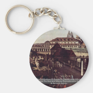 View The Fortifications Of Dresden In Dresden Moat Basic Round Button Key Ring
