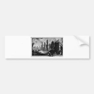 View the remains of `Mausoleums and tombs scattere Bumper Sticker