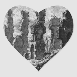 View the remains of `Mausoleums and tombs scattere Heart Sticker