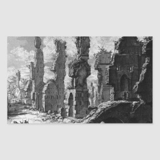 View the remains of `Mausoleums and tombs scattere Rectangular Sticker