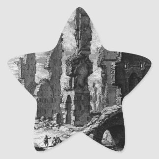 View the remains of `Mausoleums and tombs scattere Star Sticker