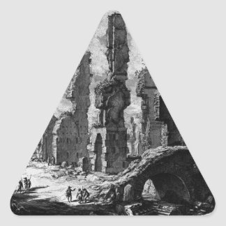 View the remains of `Mausoleums and tombs scattere Triangle Sticker