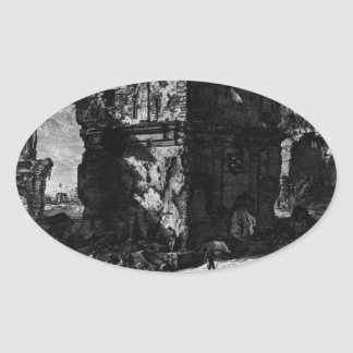 View the remains of some existing burial chambers oval sticker
