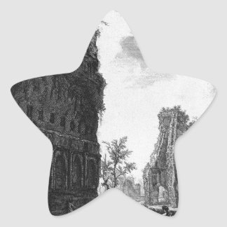 View the remains of the circumference of the oldes star sticker
