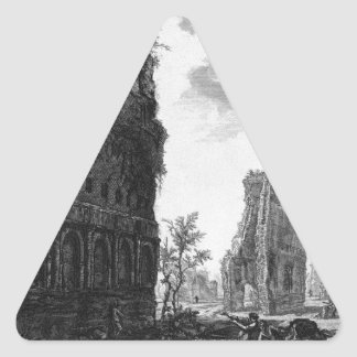 View the remains of the circumference of the oldes triangle sticker