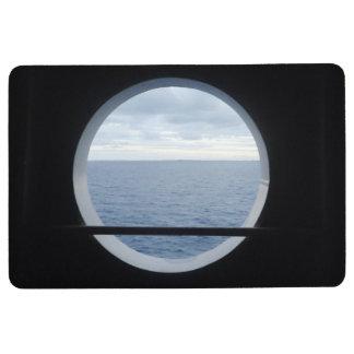 View Through a Porthole Floor Mat