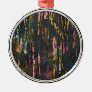 View through the dark forest christmas ornament