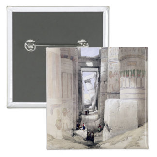 "View through the Hall of Columns, Karnak, from ""Eg Pinback Button"