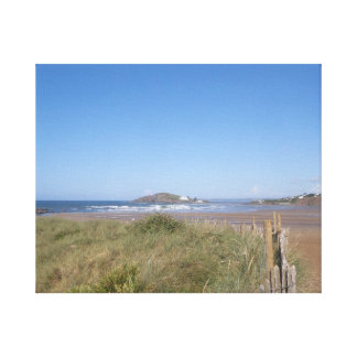 View To Burgh Island From Bantham Canvas Print