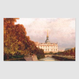 View to Michael's Castle in Petersburg from Lebiaz Rectangular Sticker