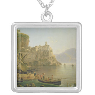 View Towards Atrani on the Amalfi, 1817 Silver Plated Necklace