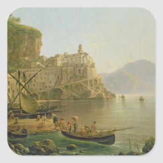 View Towards Atrani on the Amalfi, 1817 Square Sticker