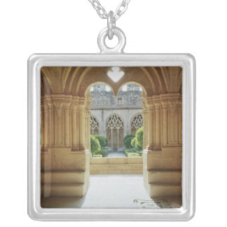 View towards the cloister from the Chapter Silver Plated Necklace