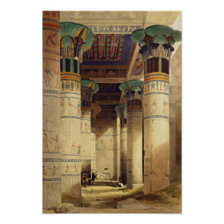 View under the Grand Portico, Philae Poster